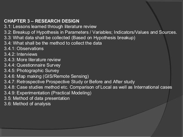 Components Literature Review Dissertation