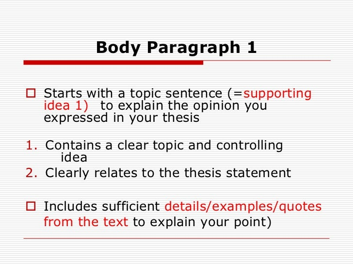 thesis statement examles