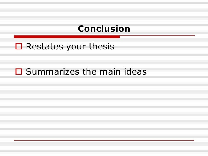 reaction response thesis statement