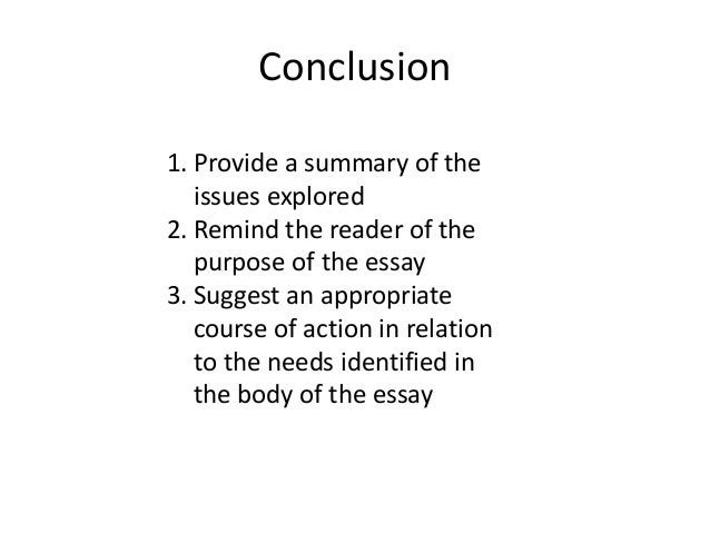 How do i start a conclusion of a essay?