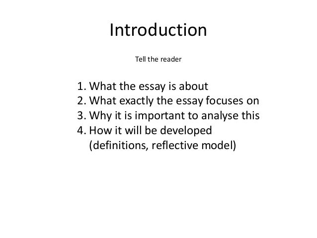 the thesis of your reflective essay Reflection essays & discussion topics – 3 obedience potential topics for reflection essays and group discussions establishing goals o what are your goals for this.