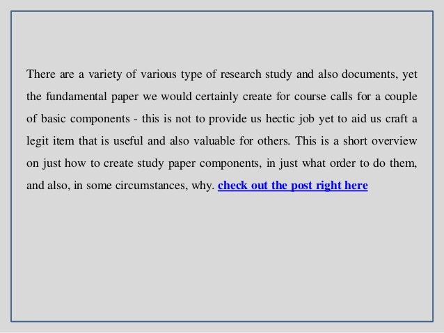 How Write Research Paper