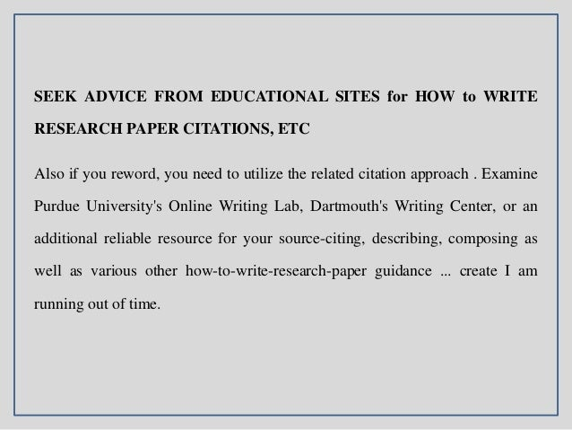 How to write a reasearch paper?