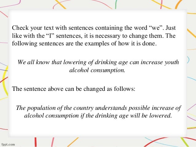 Third person words for research paper