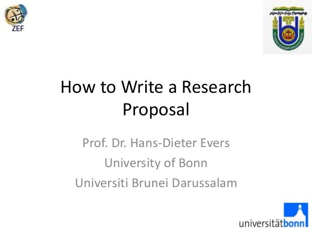 how to write a marketing research proposal