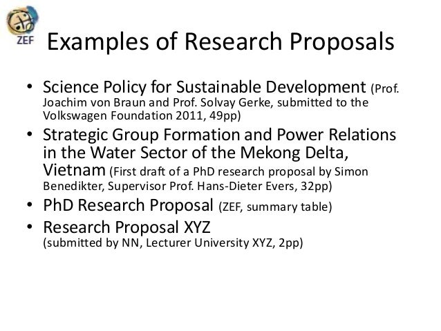 Phd research proposal summary