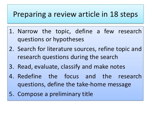 How to write a article review