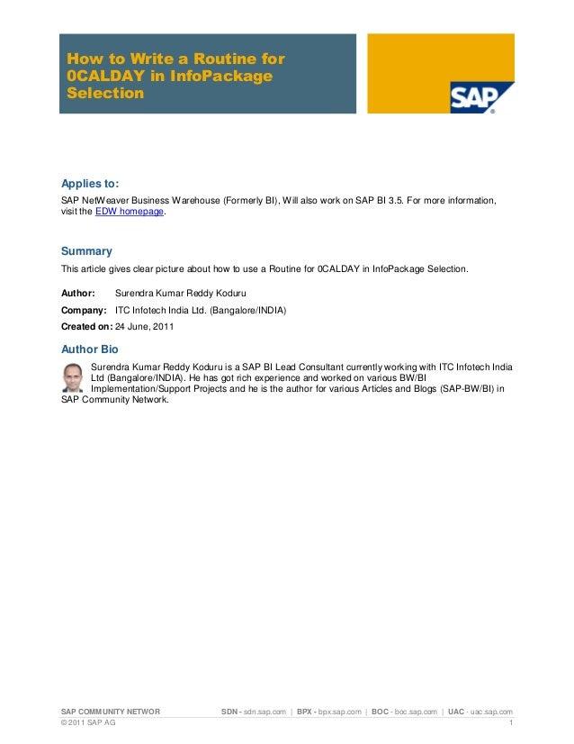 SAP COMMUNITY NETWOR SDN - sdn.sap.com | BPX - bpx.sap.com | BOC - boc.sap.com | UAC - uac.sap.com © 2011 SAP AG 1 How to ...