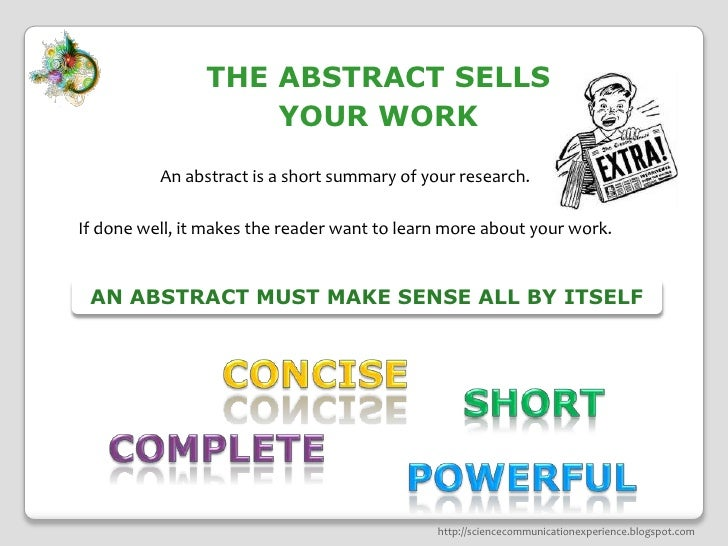 How to write a scientific article abstract