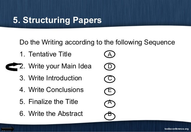 How to writing paper