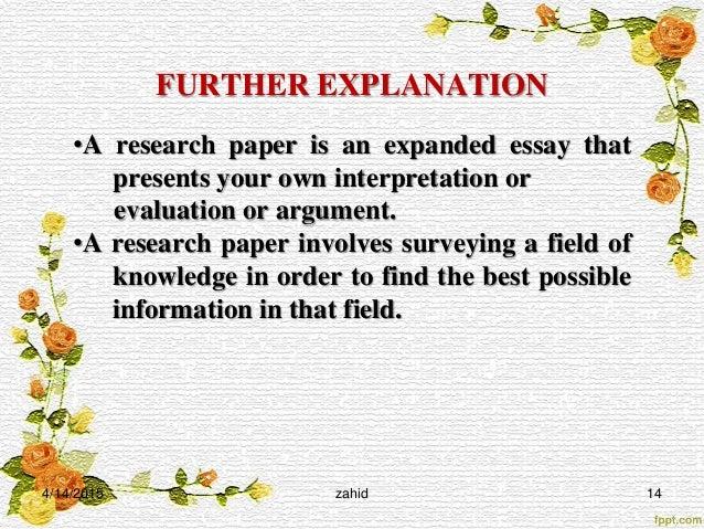 Explaining A Concept Essay
