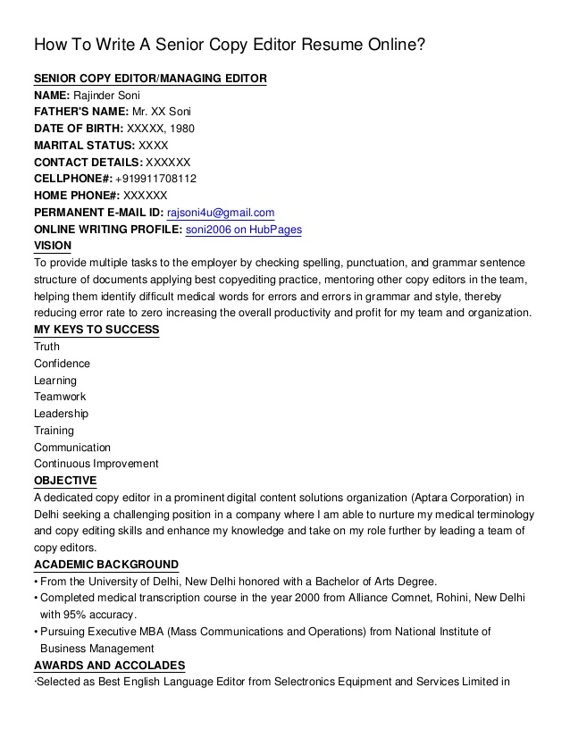 Edit Your Resume Online - Free Resume Creator
