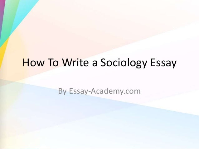 writing a sociology essay