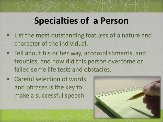 how to write a speech about someone How to write an introduction speech or an introduction letter if you're doing this for someone else, make sure that their name is written properly.