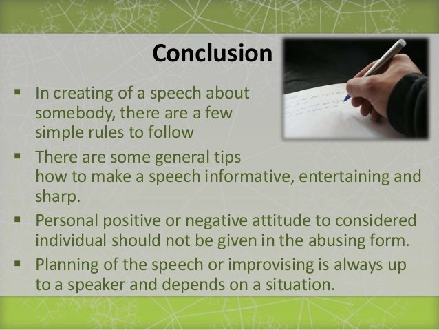 How to write a speech about someone