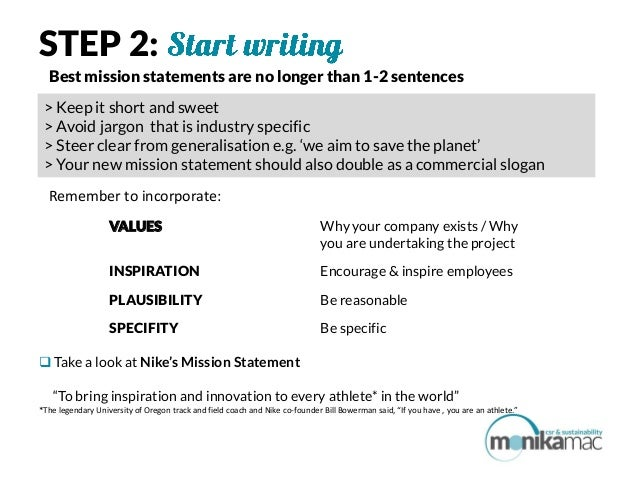 how to write a mission and vision statement A well-crafted mission statement can take your business to the next level here's how to write a powerful mission statement for your company.