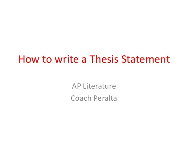 How To Build A Thesis Statement