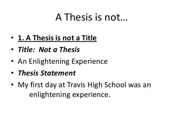 In my thesis