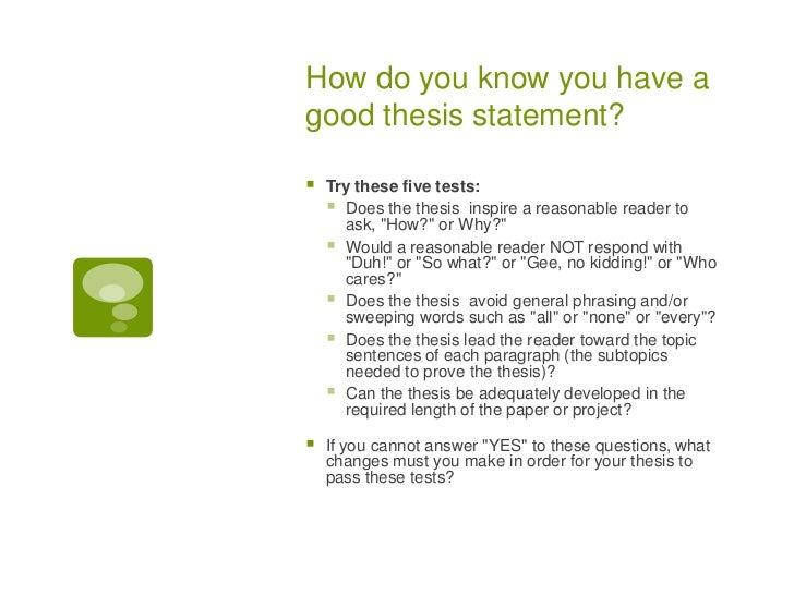 the thesis statment