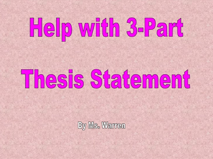 how do you identify a thesis statement