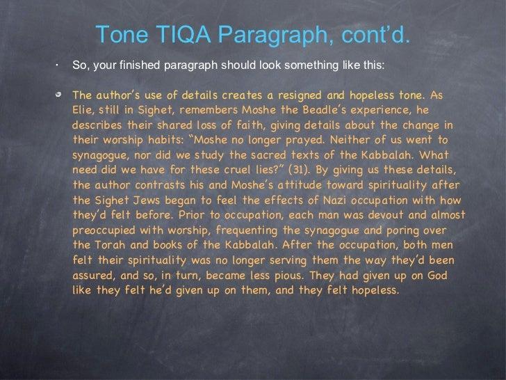How do you write an essay on tone?