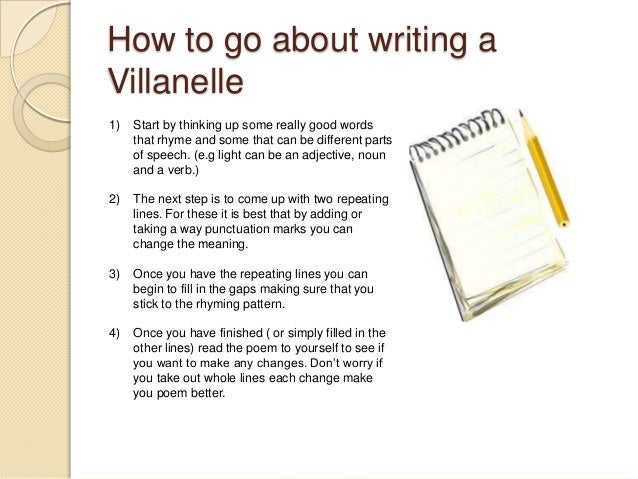What to write a villanelle on