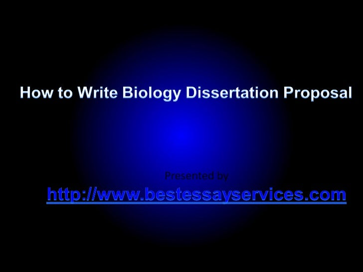 Biology Dissertation Sections