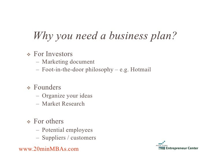 Who To Write A Business Plan