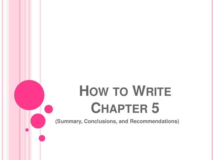 How to write chapter 1 of a thesis basic format