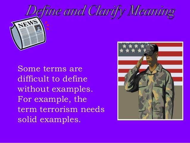 extended definition essay terrorism
