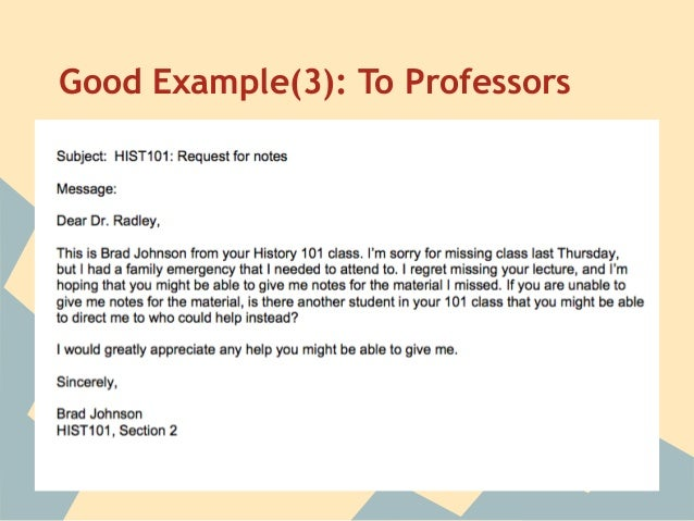Sample emails to your dissertation supervisor