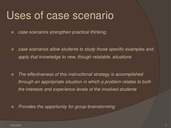 Write a use case scenario