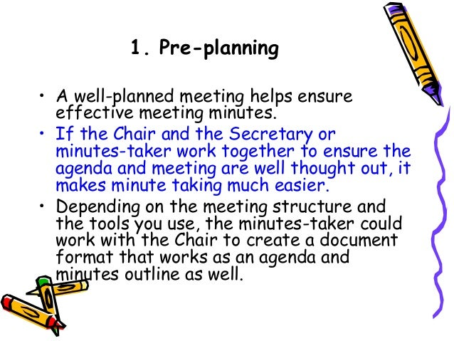 how to write effective meeting minutes