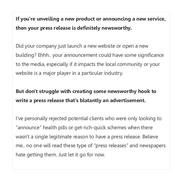 Writing A Company Launch Press Release