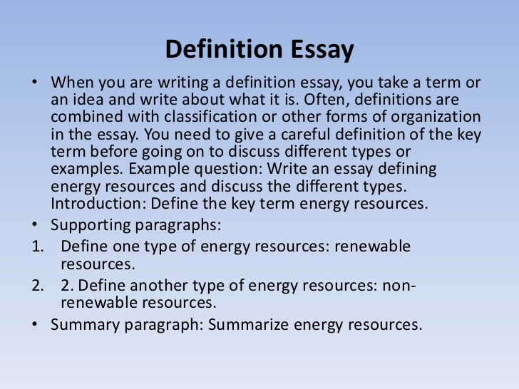 Custom Writing At 10 Definition Essay Topic Ideas