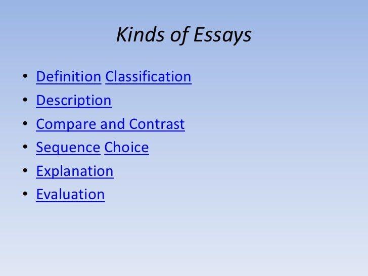 writting essay types of essay