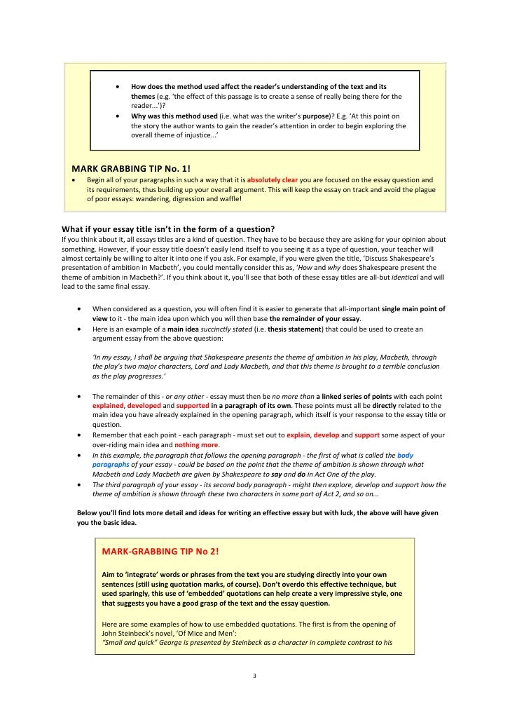How to continue with a idea essay