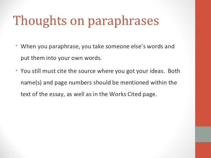 Quoted material within your essay should