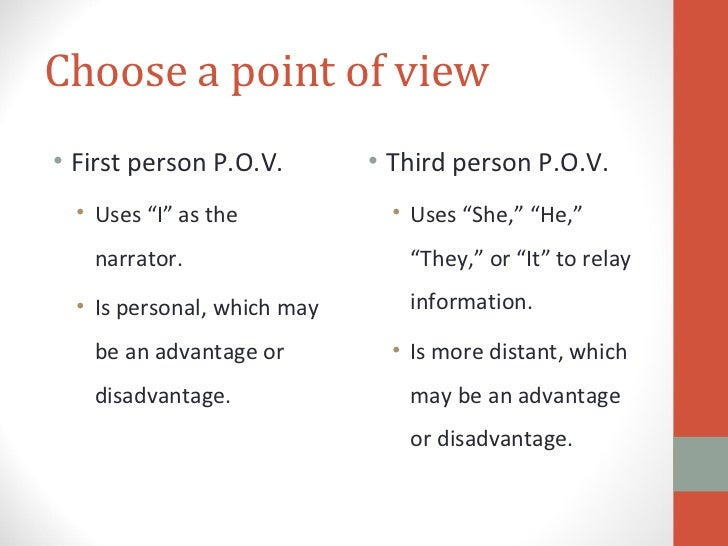 Use Third-Person Point of View - Writing Commons