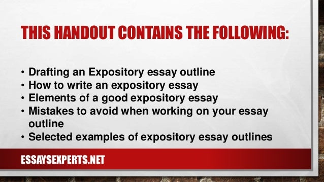 I need help with expository essay and getting it started?