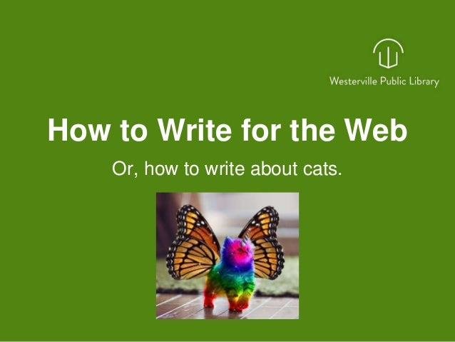 Write for the web
