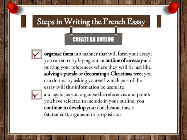 list of steps for writing an essay