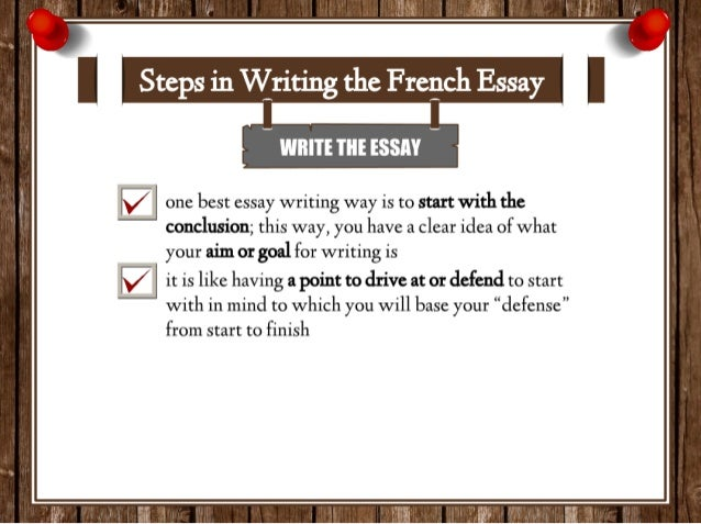 An essay in french