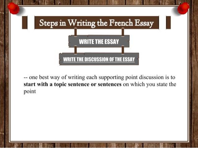 Way of writing essay