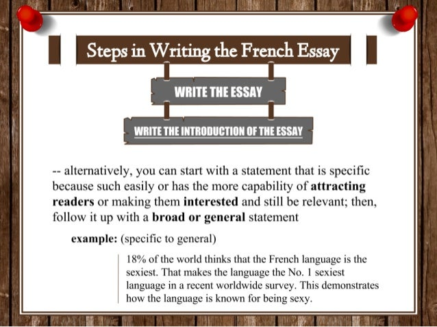 write introduction french essay