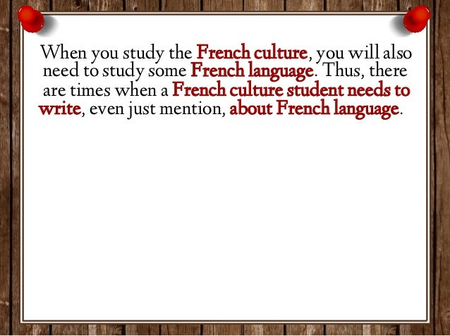 Write an french essay?