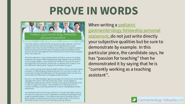 Good words for personal statement