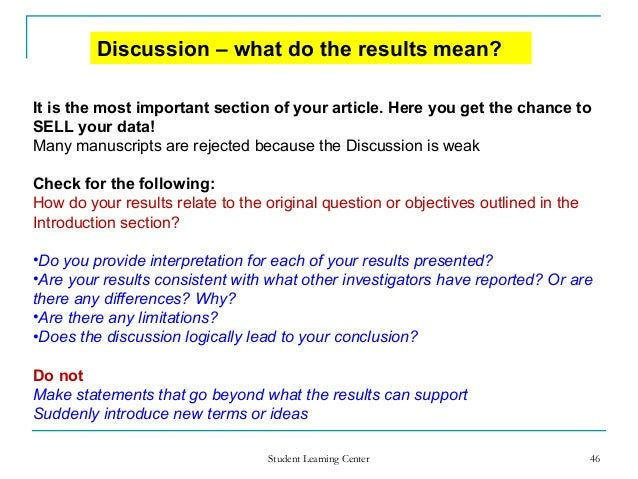 How To Write The Discussion Section Of A Research Paper Apa Ee
