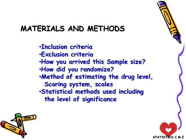 writing materials and methods in a thesis Institute for writing and they will also benefit from having an array of methods to help their for materials on invention and thesis development that you.