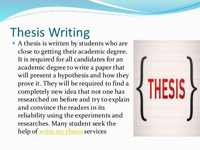 thesis writin